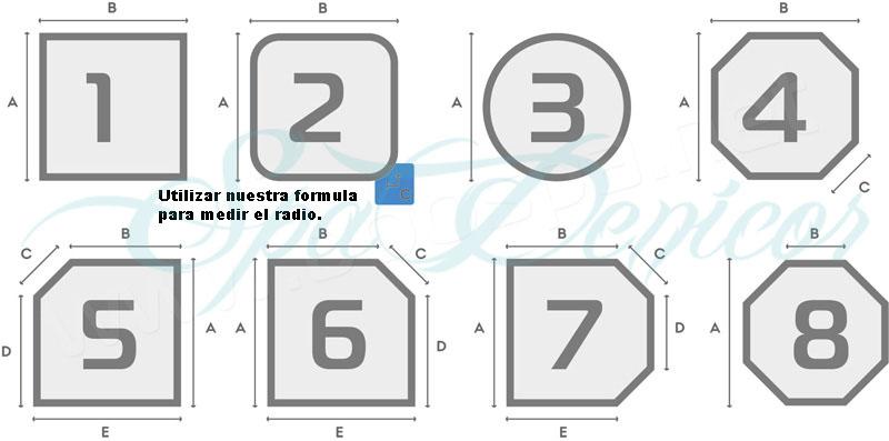 Tapa termica spadenicor for Medidas de jacuzzi para 4 personas