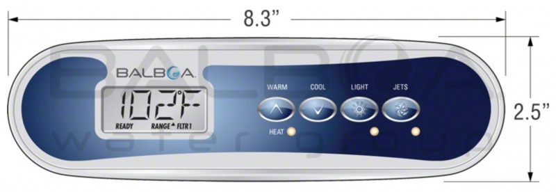 Panel de control Balboa TP400