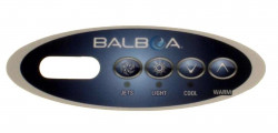 Overlay for topside Panel Balboa VL200 with 4 buttons